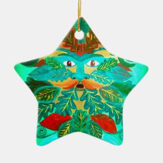 Greenman Ceramic Star Decoration
