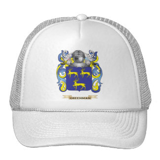 Greenman Coat of Arms (Family Crest) Mesh Hat