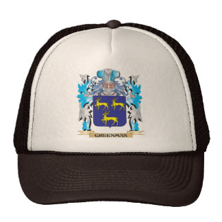 Greenman Coat of Arms - Family Crest Trucker Hats