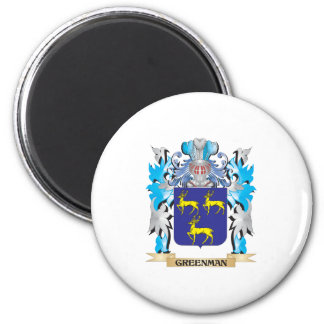 Greenman Coat of Arms - Family Crest Refrigerator Magnets
