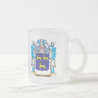 Greenman Coat of Arms - Family Crest Coffee Mug