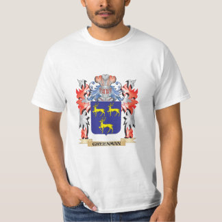 Greenman Coat of Arms - Family Crest T-Shirt