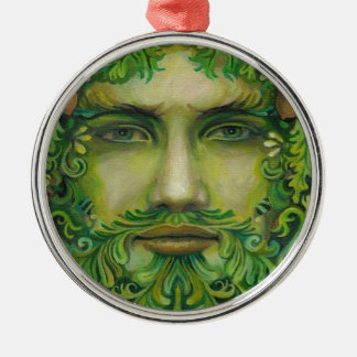 greenman Silver-Colored round decoration