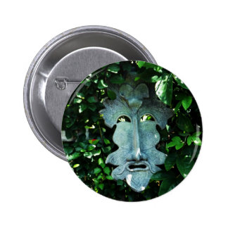 Greenman In the Leaves Buttons