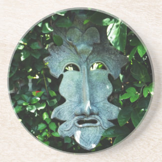 Greenman In the Leaves Coaster