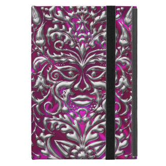GreenMan liquid gold damask on pink satin print iPad Mini Covers