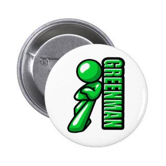 Greenman logo 6 cm round badge