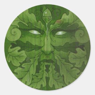 greenman master round sticker