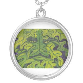 Greenman Round Pendant Necklace