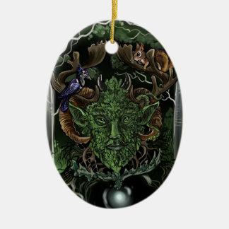 GreenMan~ornament Ceramic Ornament