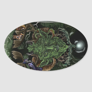 GreenMan Oval Sticker