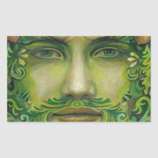 greenman rectangular sticker