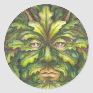 Greenman Round Sticker