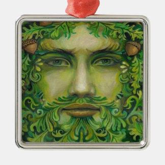 greenman Silver-Colored square decoration
