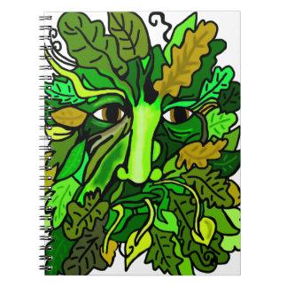 Greenman Spiral Note Book