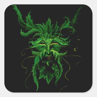 Greenman Square Sticker