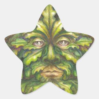 Greenman Star Sticker