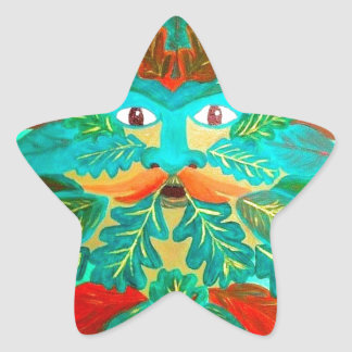 greenman star sticker