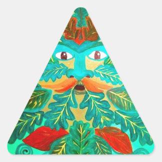greenman triangle sticker