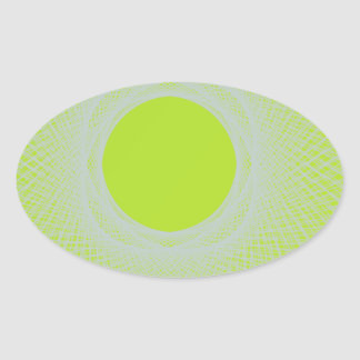 greenny 8798 abstract art oval sticker