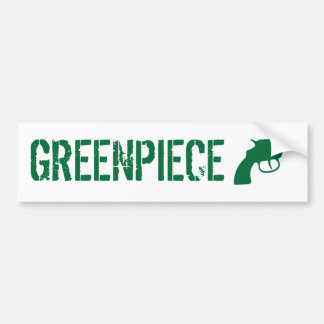 greenpiece bumper sticker