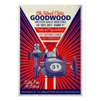 Greenpower National Final Vintage Poster 2011 Postcard