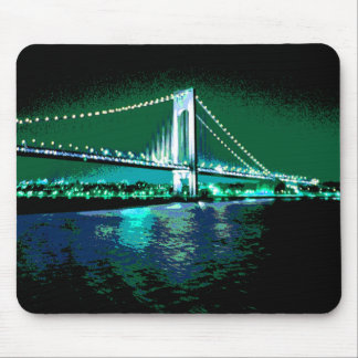 Greens & Blues Bridge mousepad