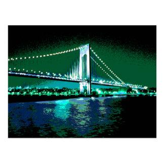 Greens & Blues Bridge postcard