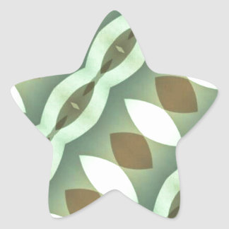 Greens Modern Diamonds Diagonal Star Sticker