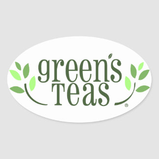 Green's Teas Oval Sticker