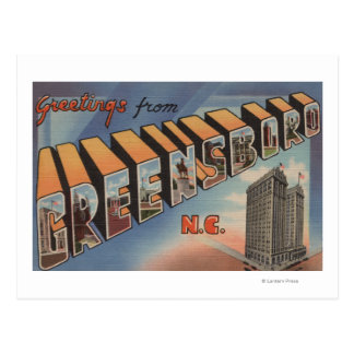 Greensboro, North Carolina - Large Letter Scenes Postcard