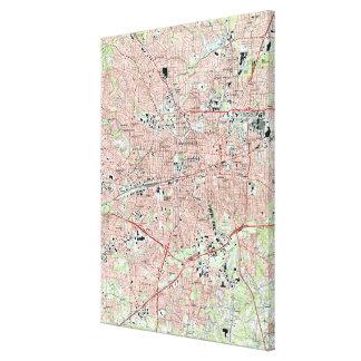Greensboro North Carolina Map (1997) Canvas Print