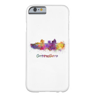 Greensboro skyline in watercolor barely there iPhone 6 case