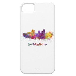 Greensboro skyline in watercolor iPhone 5 case