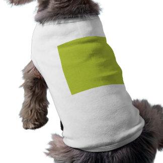 GreenSolidPaper LIGHT LEMON GREEN SOLID COLOR BACK Sleeveless Dog Shirt