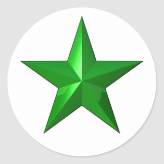 GreenStarButton Classic Round Sticker