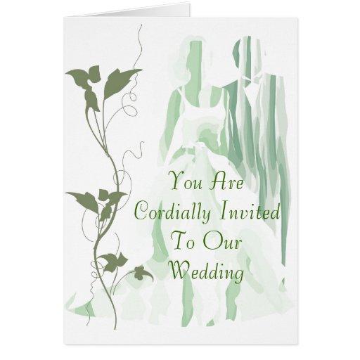 GreenStyle Wedding Invitation Cards
