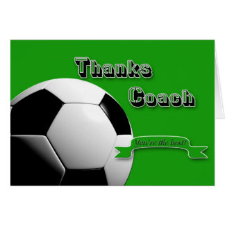 GreenThanks Soccer Coach Card