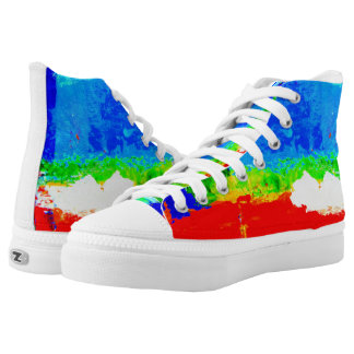 Greenville is a Happy Place High Tops Printed Shoes