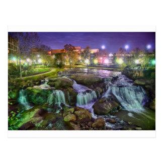 greenville south carolina downtown city night sout postcard