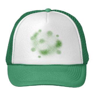 GREENWHITE GREEN WHITE GRUNGE RANDOM POLKADOTS POL HAT