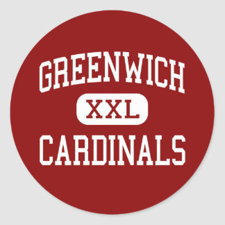 Greenwich - Cardinals - High - Greenwich Classic Round Sticker