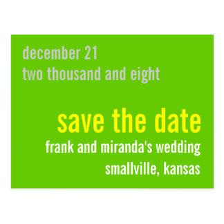 Greeny Customizable Save the Date Postcard