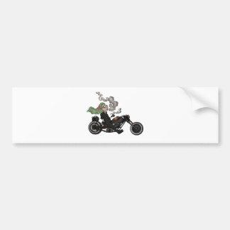 Greeny Granny on motorcycle Bumper Sticker