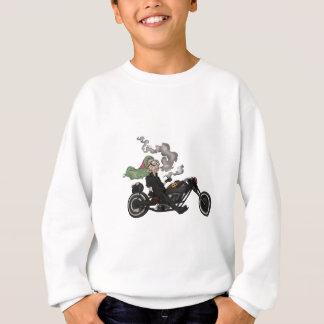Greeny Granny on motorcycle Sweatshirt