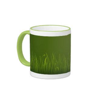 Greeny Grass Ringer Mug