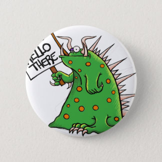 Greep Graphic Well Hello There 6 Cm Round Badge