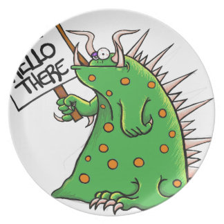 Greep Graphic Well Hello There Plate