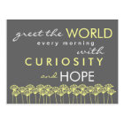 Greet the World with Hope Quote Postcard