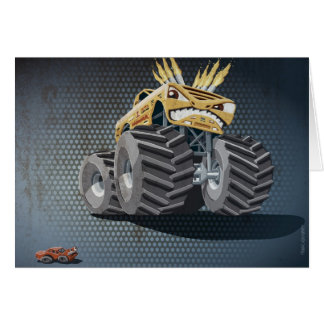 Greeting Card Aggressive Monster Truck Grunge